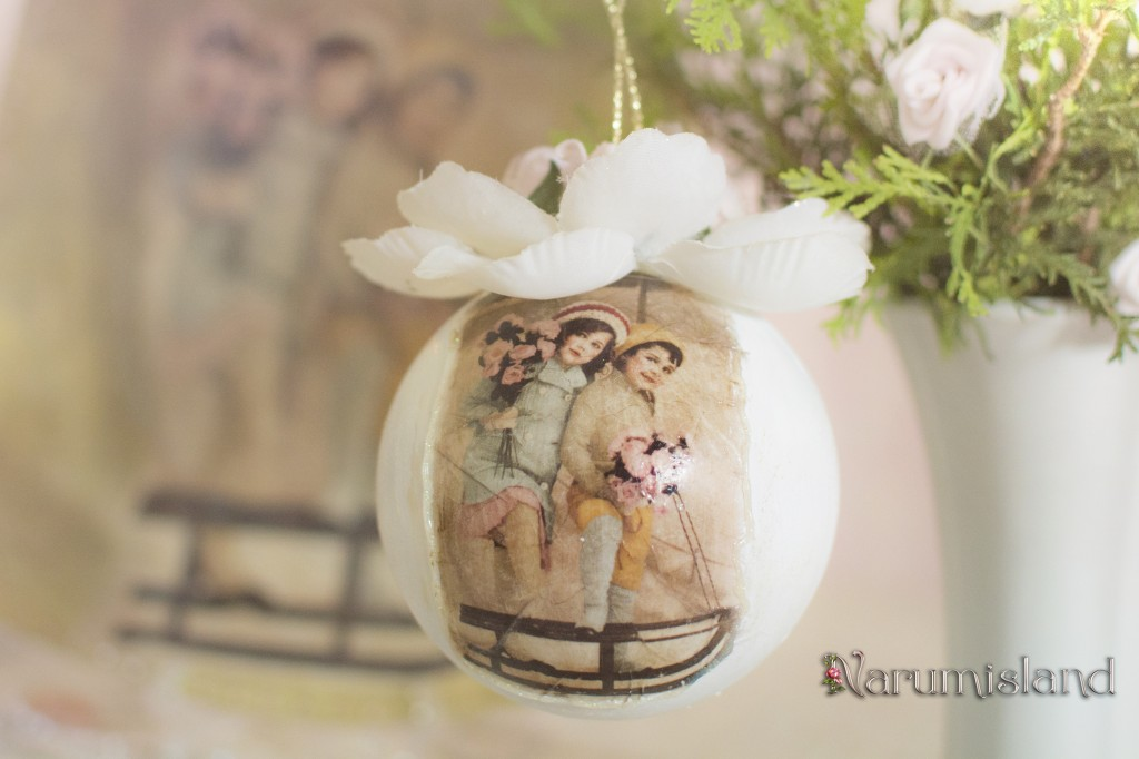 Christmas Ornament with vintage children