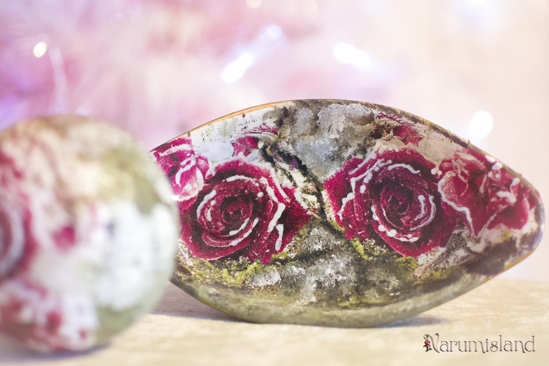 Cadou de Craciun cu trandafiri