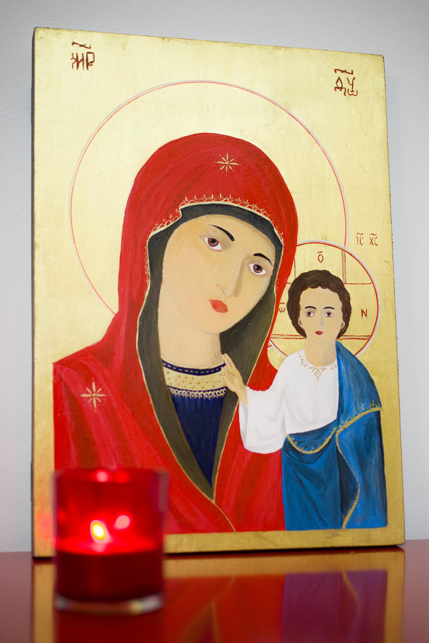 """""""Maica Domnului de la Kazan"""", icoana pictata"""