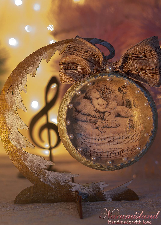 Glob Decorativ, Cu Ingeras Si Motive Muzicale