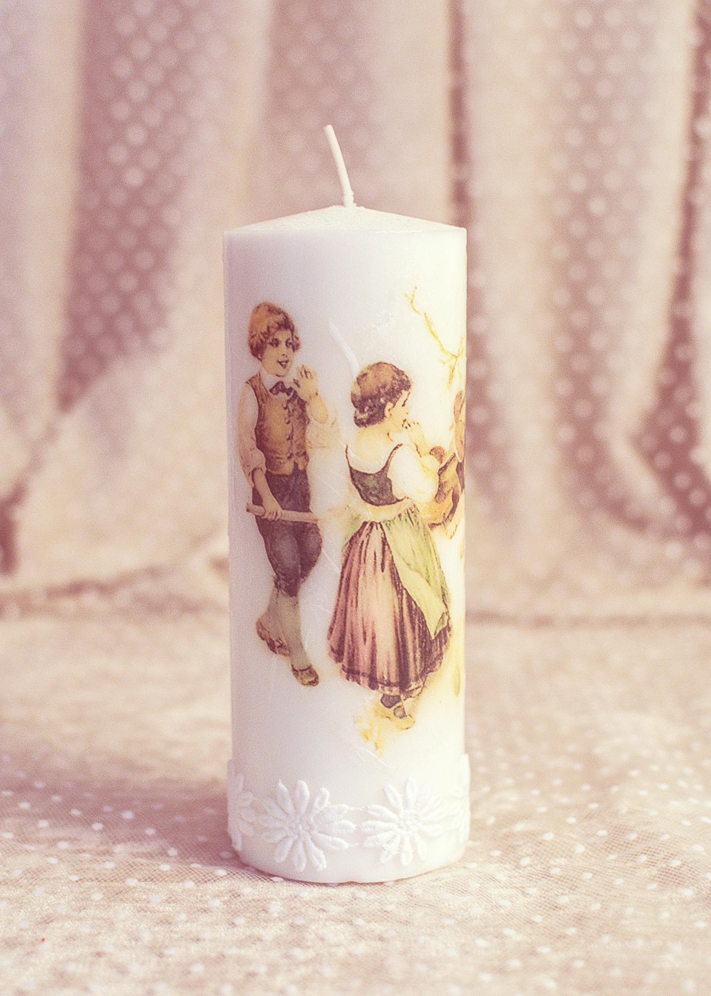 Vintage Kids: Easter Candle