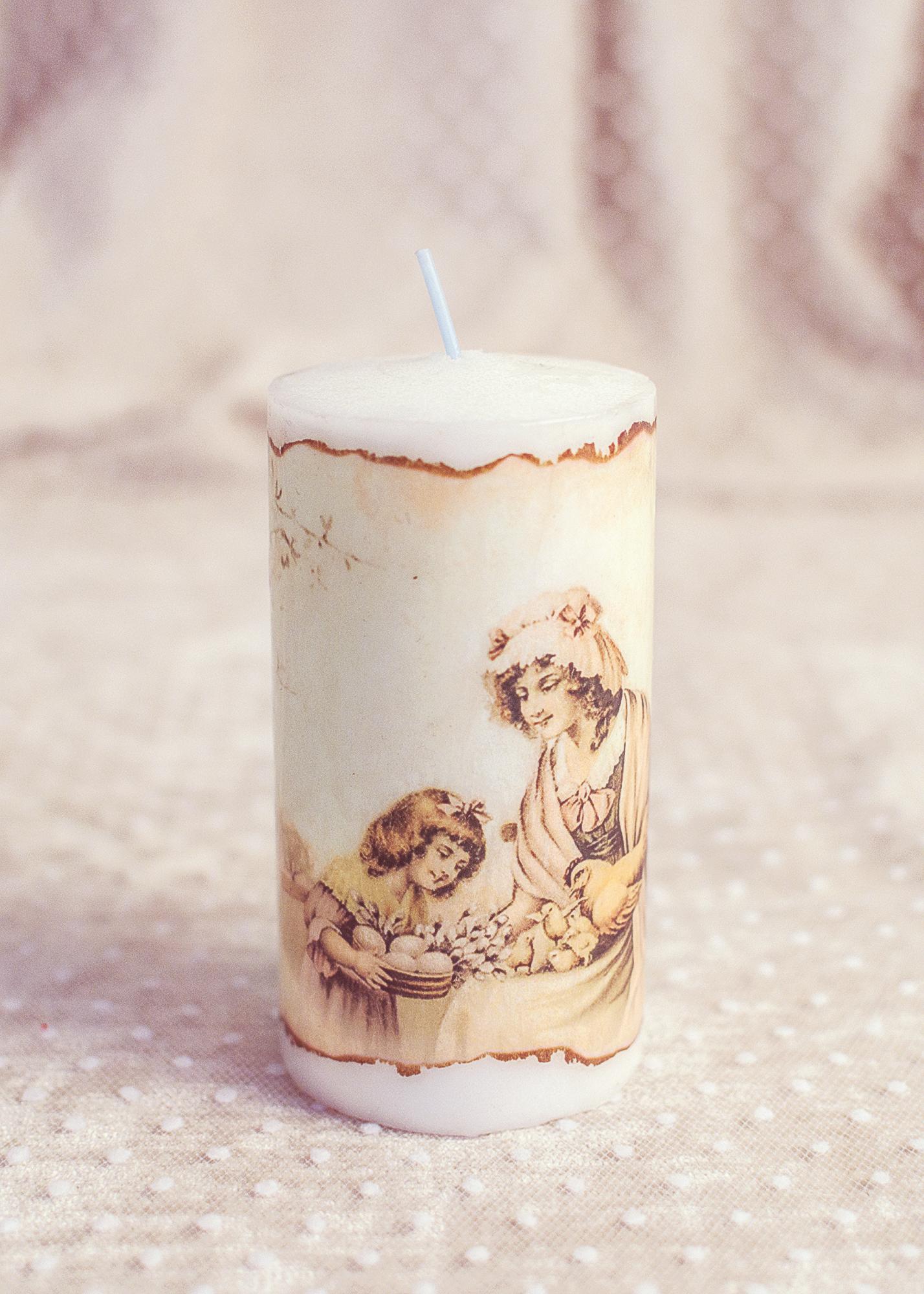 Lumanare Decorativa De Paste : Imagini Vintage