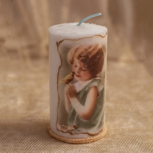 Lumanare cu fetita vintage