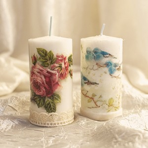 Lumanari decorative cu modele vintage