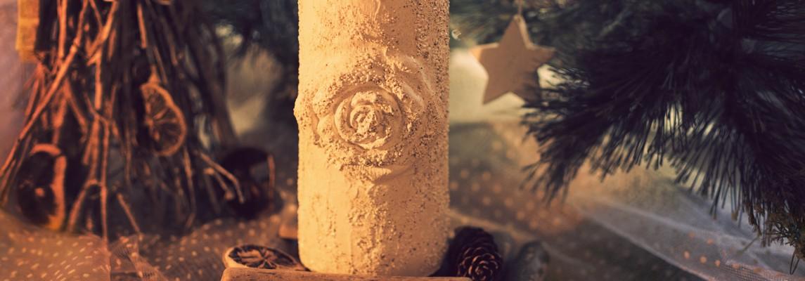 Lumanari decorative cu trandafiri 3D