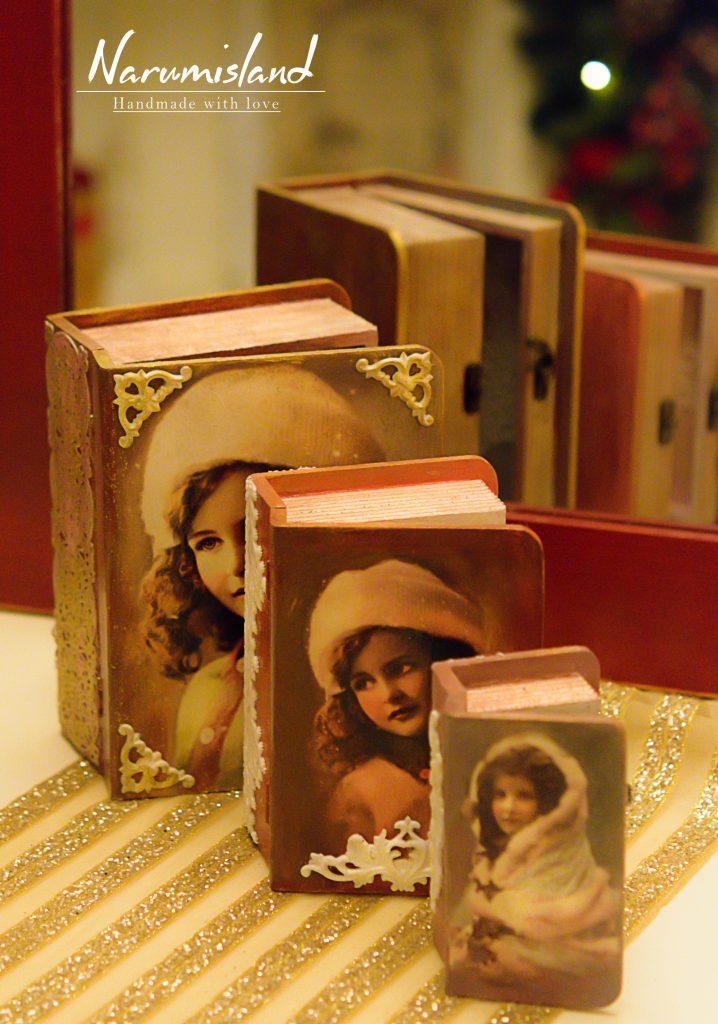 cutii carti cu elemente dantelate