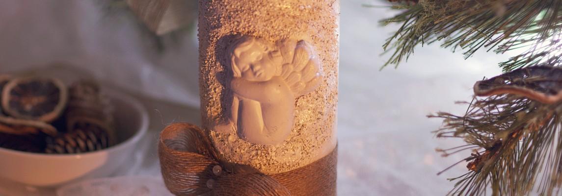 Lumanari decorative cu ingerasi 3d